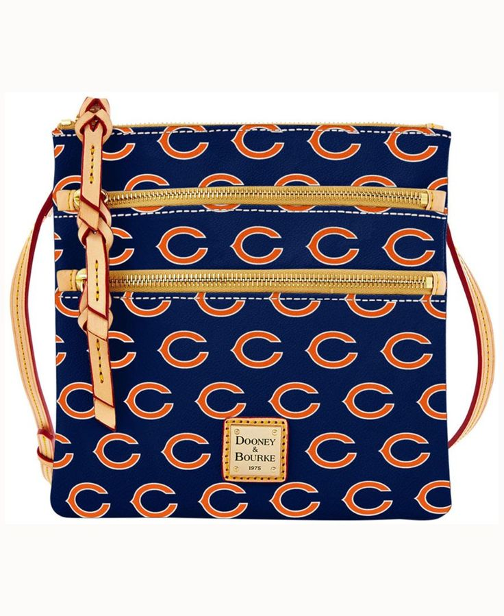 The Dooney & Bourke Triple Zip Crossbody bag is a great complement to your busy lifestyle. The contemporary triple-zip style is versatile for your every day needs, while the allover team print helps y
