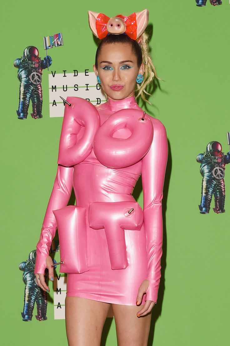 7 Ways to Turn Miley Cyrus' Craziest VMAs Looks into Your Halloween Costume via Brit + Co.