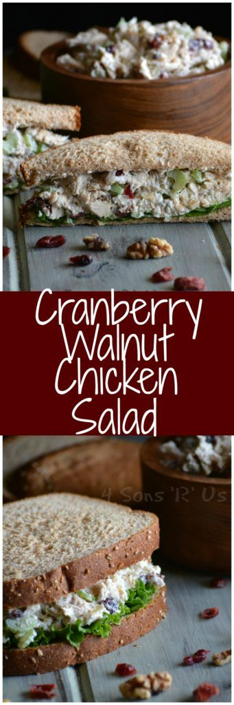 Stir the seasonal flavors of Fall right into this yummy sandwich spread. A lightened up chicken salad that embraces seasonal Fall flavors. This Cranberry Walnut Chicken Salad is quick & easy, but tast