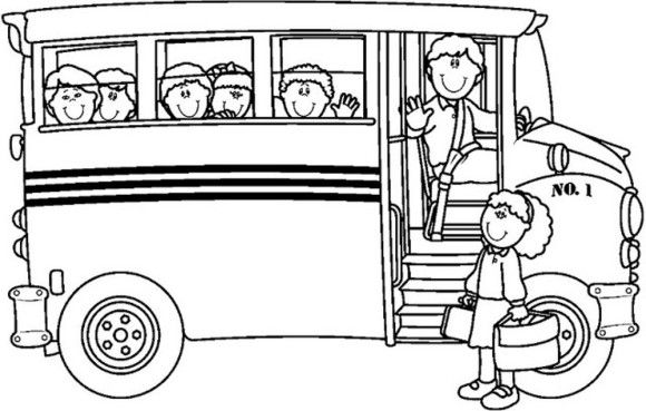 free school bus coloring page
