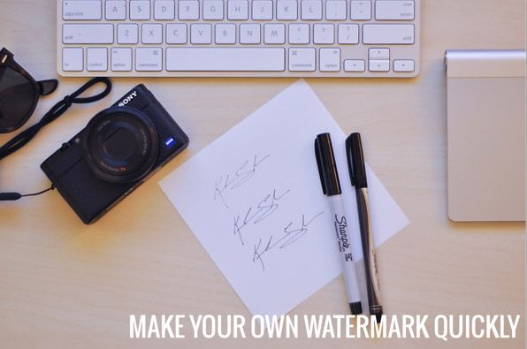 Make Your Own Sign Or Signature Into a Watermark in 10 Min (No Scanner Needed)