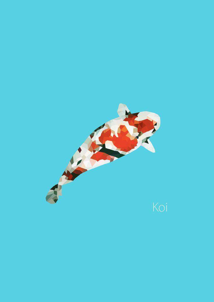 koi  #llustrations #PolygonArt