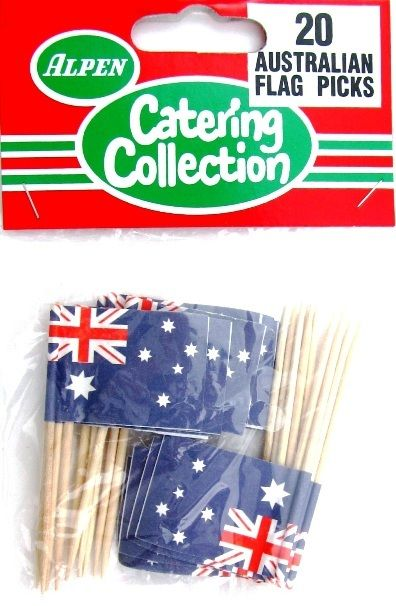 Australian Flag Australia Day Party Cupcake Cocktail Food Picks - Alpen
