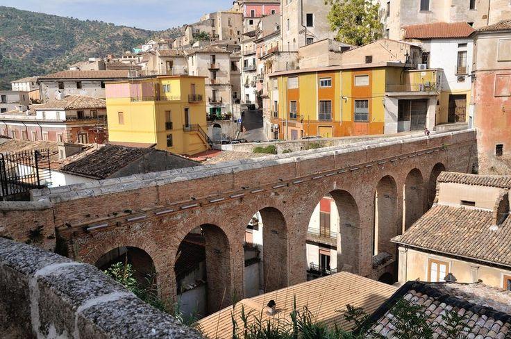 Wanderful Canal Bridge on via Roma in the historic centre of Corigliano Calabro