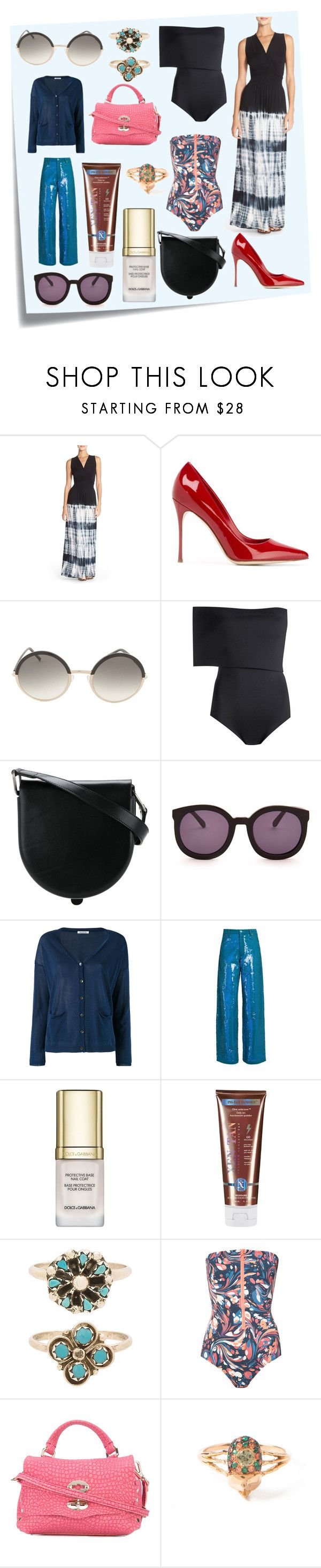 """""""Polyvorian Style"""" by cate-jennifer ❤ liked on Polyvore featuring Post-It, Fraiche By J, Sergio Rossi, Cutler and Gross, Haight, Lemaire, Karen Walker, P.A.R.O.S.H., Ashish and Dolce&Gabbana"""