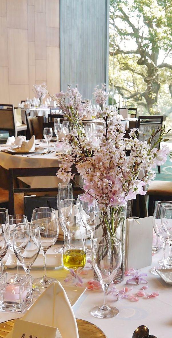 #james-tei#novarese#VressetRose #Wedding #japanese #Guest table #table #Flower #Bridal#ジェームス邸 # ブレスエットロゼ #ウエディング# 和風 #和装 #ダリア# ゲストテーブル#トーション #テーブル # 花#テーブルコーディネート#ブライダル#結婚式#桜