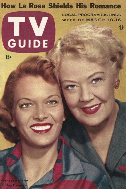 TV Guide: March 10, 1956 - Frances Rafferty and Spring Byington