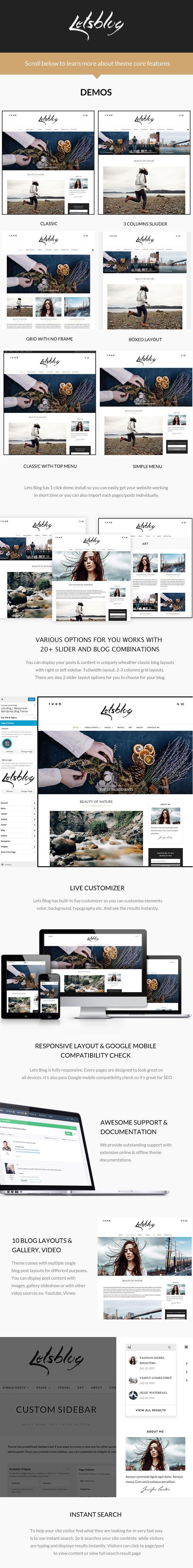 Let's Blog responsive wordpress theme