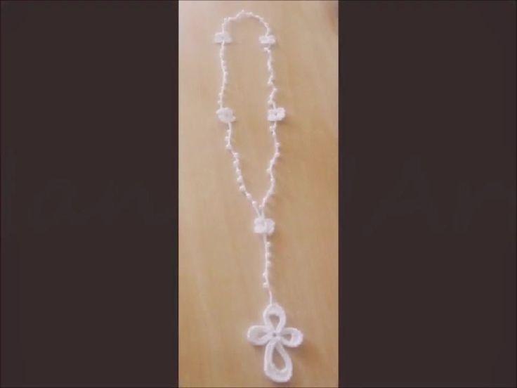 Hobby lavori femminili - ricamo - uncinetto - maglia: rosario uncinetto
