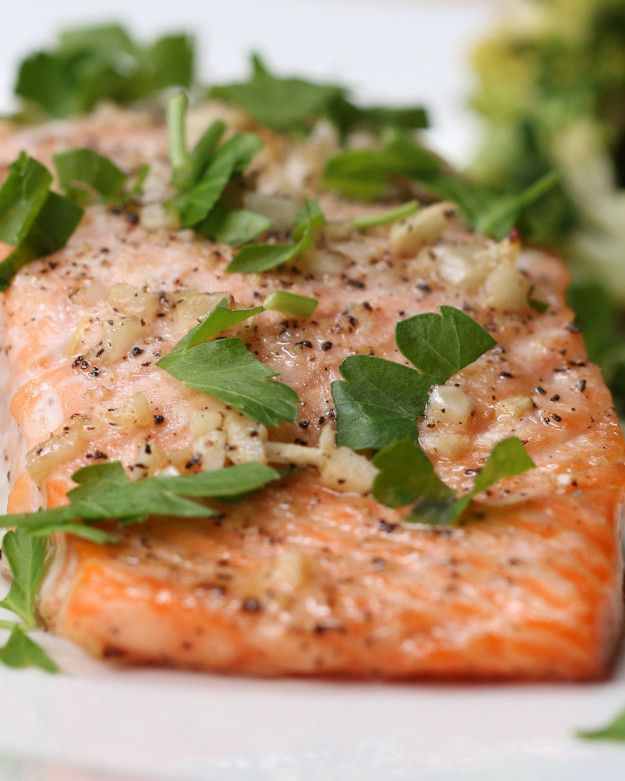 One-Pan Garlic Butter Salmon and Veggies
