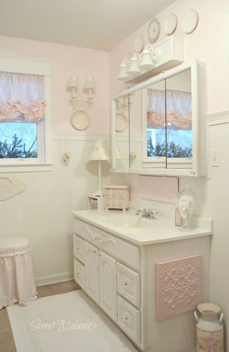 Stunning shabby chic bathroom decoration ideas (34)