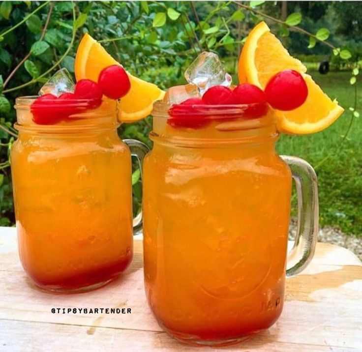 PASSION RUM PUNCH  1.5 oz. (45 ml) Cherry Juice... | Tipsy Bartender