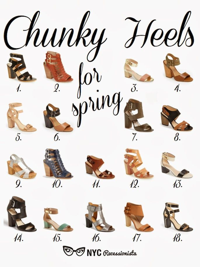 NYC Recessionista: Chunky Heel Sandals