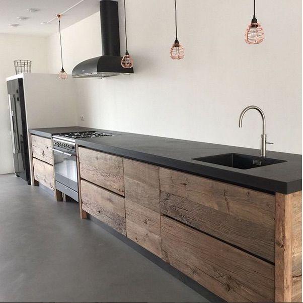 Moderne # Holz # Küche # alte # Eiche # via # Res…