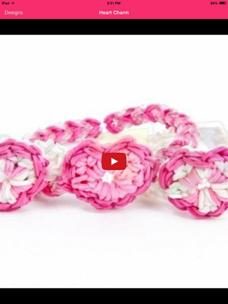 Rainbow loom heart charm need two looms by Justin'sToys