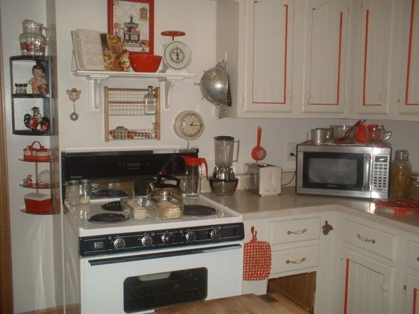 White Kitchen Vintage 120 best vintage red & white pots & pans images on pinterest