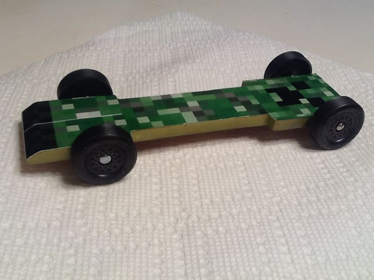 boy scouts pinewood derby templates - creeper pine wood derby car minecraft creeper pinewood