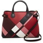Burberry Banner Patchwork Color Block Medium Tote