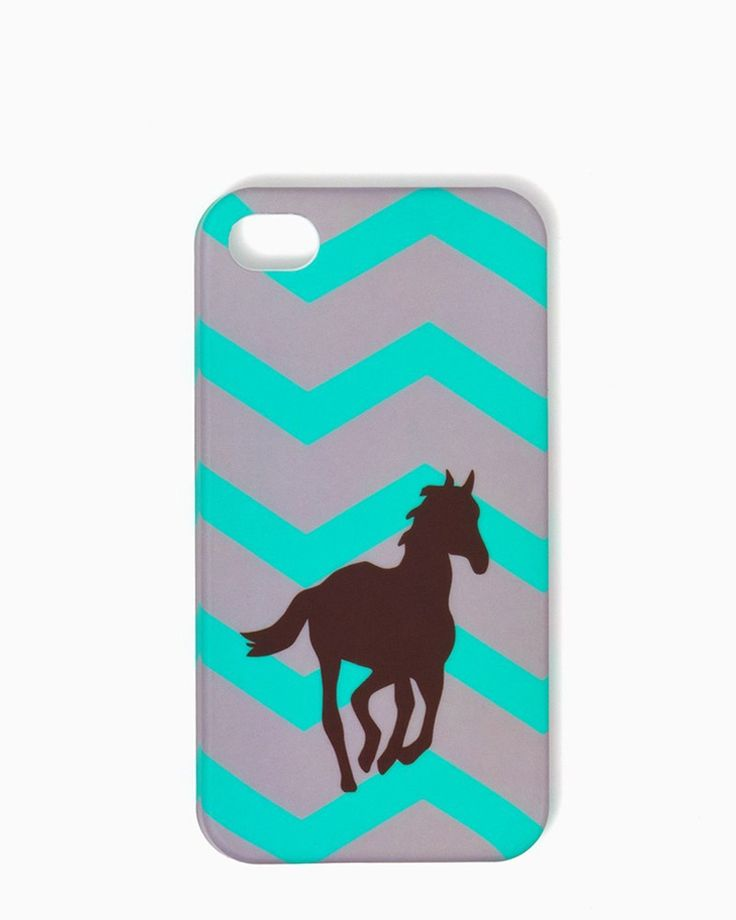 charming charlie | Chevron Pony iPhone 4/4S, 5/5S Case | UPC: 3000709268 #charmingcharlie