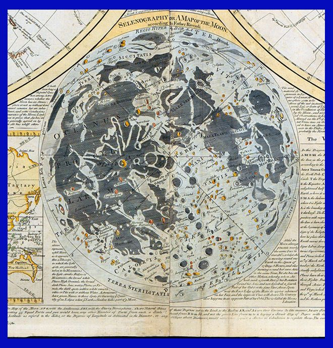 || Selenography, or A Map of the Moon, detail from Samuel Dunn's Scientia terrarum et coelorum, Chelsea, 1772