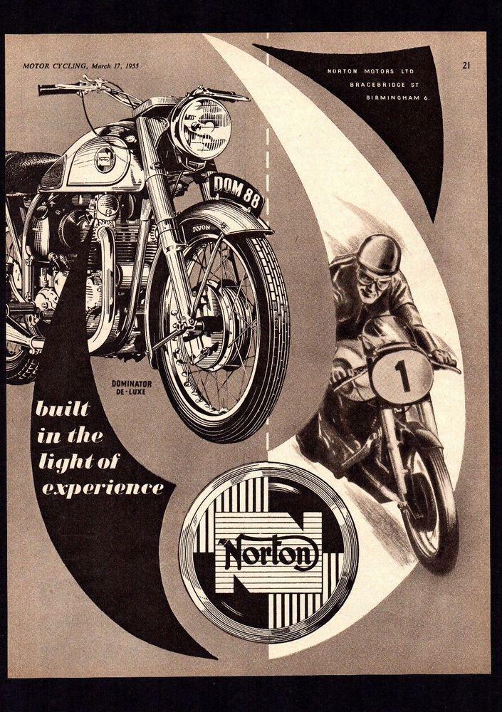 1955 NORTON DOMINATOR 88 DE-LUXE 500 TWIN MOTORCYCLE.MAGAZINE ADVERT.