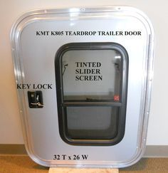 (6)TEAR DROP ENCLOSED TRAILER DOORS