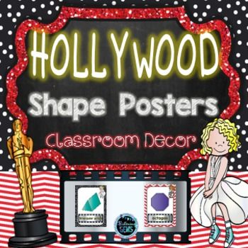 Shape Posters- Hollywood Theme - Back to School products - Classroom Decor