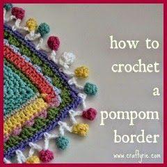Crochet Pompom Edge - Tutorial❥ 4U hilariafina  http://www.pinterest.com/hilariafina/
