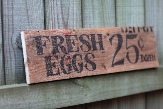 Fresh Eggs Sign  Country Wall Art by LazerEnterprises on Etsy, $25.00