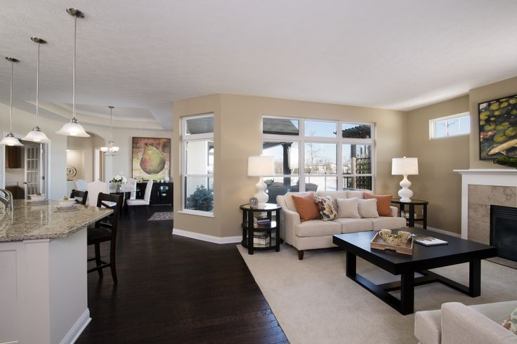 Living Room To Dining Room View Portico Carriage Home