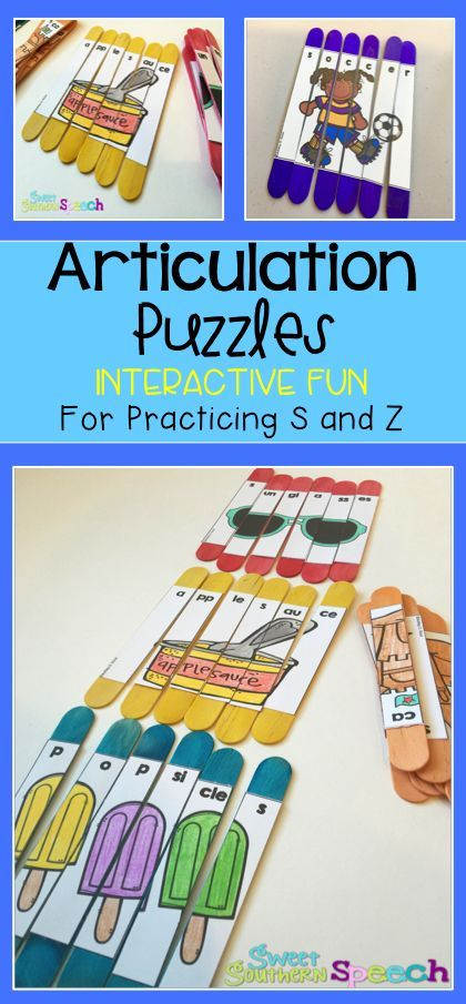Fun articulation games speech therapy