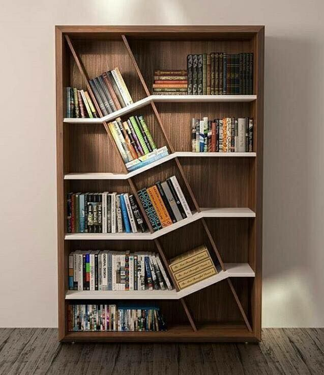 Einzigartiges Bücherregal #decor #diy #decoratingideas #homedecor #home