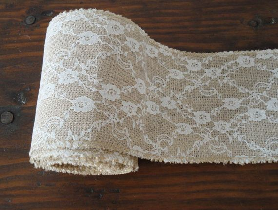 Burlap and Lace RibbonBurlap and Lace by WhimsyChicDesigns on Etsy