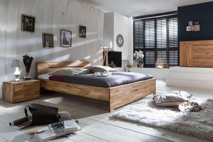 SAVA Doppelbett Bett 160 x 200 Eiche Wildeiche massiv geölt Woodlive (Betten) - Möbel günstig kaufen