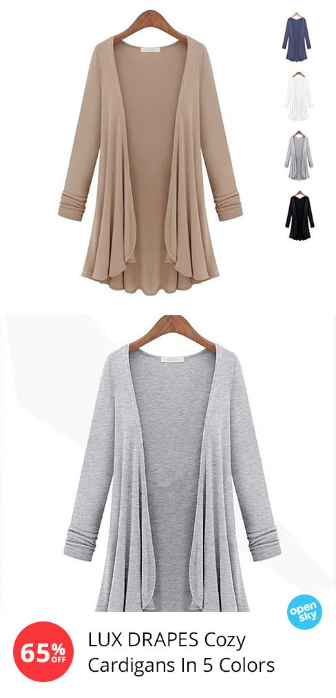The ultimate layering essential, this soft and cozy cardigan is just as flattering as it is comfy. Made of a luxe cotton-blend, it drapes beautifully, and is perfectly paired with a light scarf, leather jacket and your favorite jeans or leggings.
