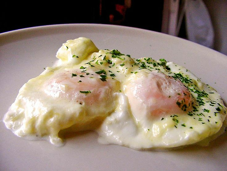 Eier in Sahne - gebacken