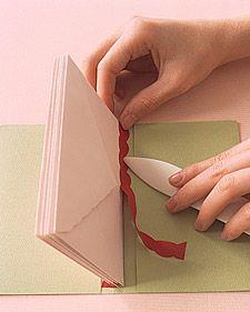 Envelope Books: Paper Binding How-To - Martha Stewart Scrapbooking & Memorykeeping