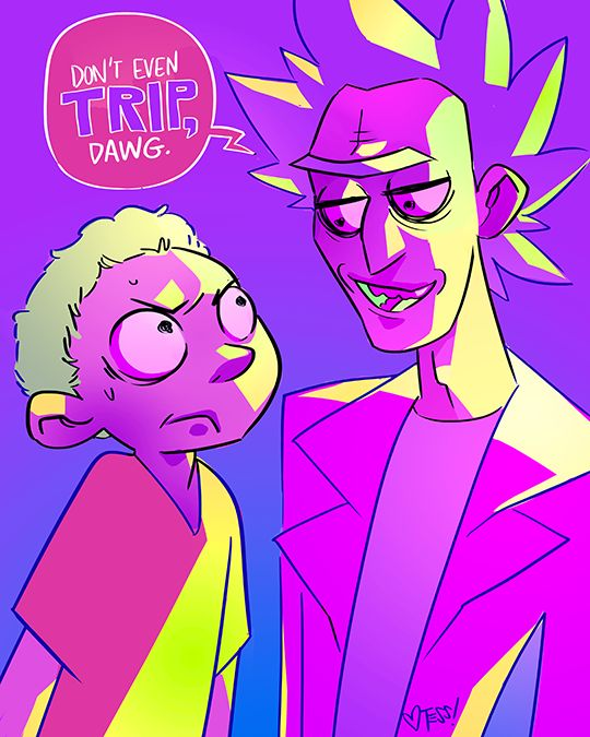 I love when Morty stands up to his grandpa and Rick is just incredibly flippant about it. It's the best.The new Rick and Morty season premiere was awesome by the way!!! Thank you Justin Roiland and Dan Harmon for this beautiful show. Art by http://whoatess.tumblr.com/