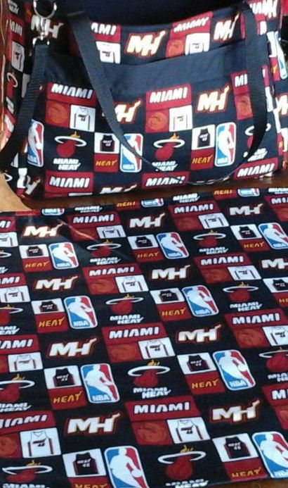 Miami Heat Daddy Diaper Bag AND Matching by LindasLoveOfSewing