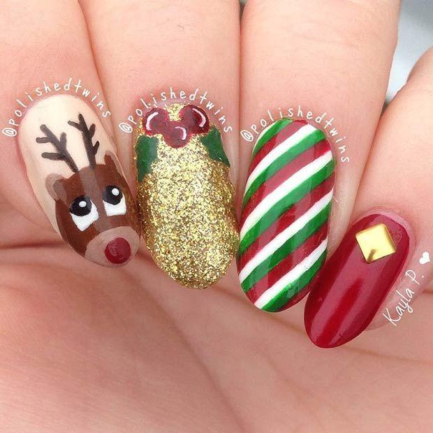 31 christmas nail art design ideas - Nail Art Design Ideas