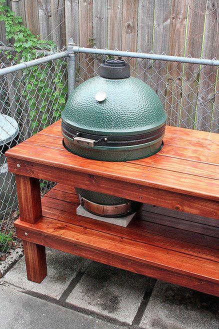 Bge Table Big Green Egg Cookin 39 Outside Pinterest