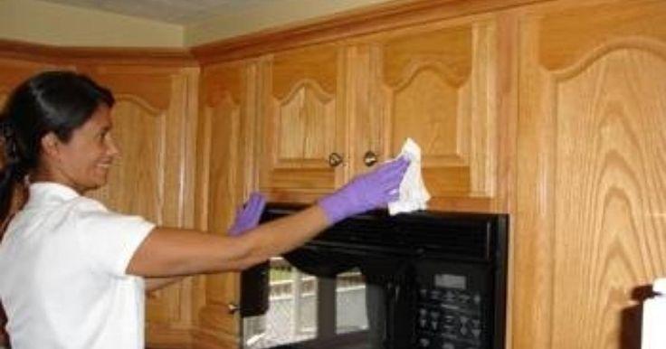 Cómo limpiar la grasa de tus gabinetes