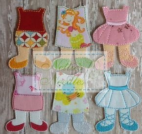 NEW Felt Girl Doll Toddler Dress Up  Three Outfit Set