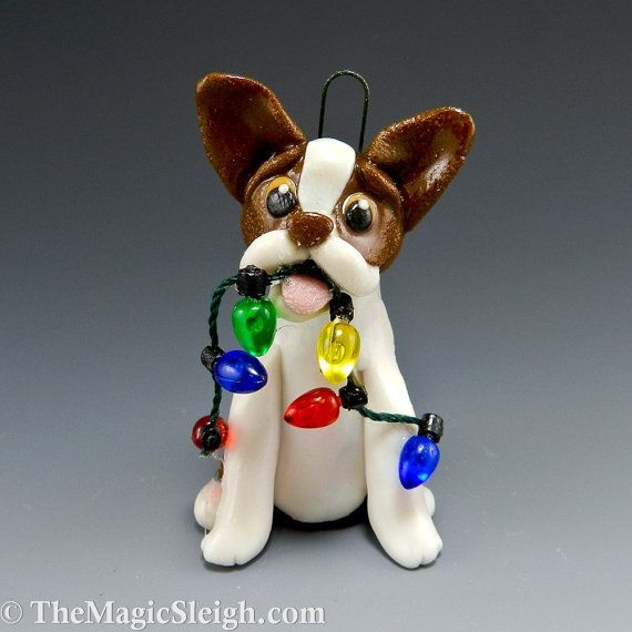 Boston terrier ornament... cuuute! I bet you could get other breeds too...