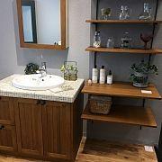 Bathroom,流木,かご収納,ウッドワンの洗面台に関連する他の写真