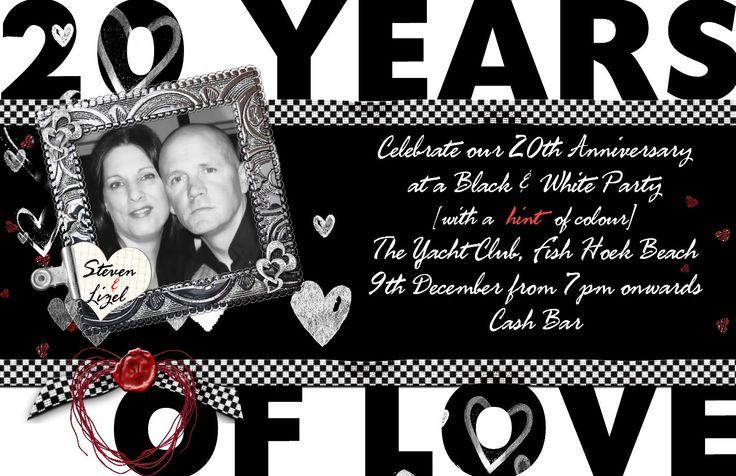 Steven & Lizel - 20th Wedding Anniversary invite