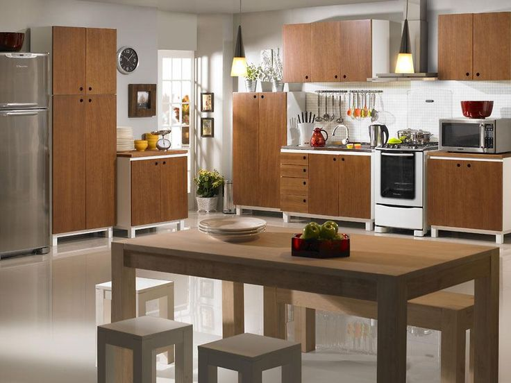 Armário Aéreo de Cozinha 2 portas Cheddar - Branco Laqueado e Caramelo