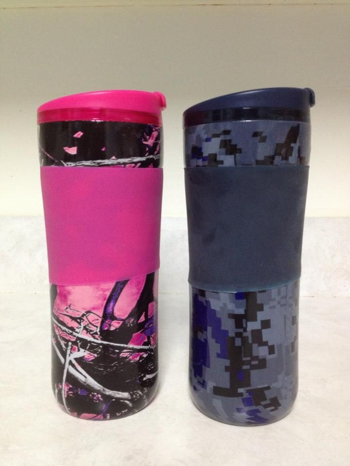 Muddy Girl Camo  | Coffee Cups in Muddy Girl Camo and Blue Digital Camo - Montana Hydro ...
