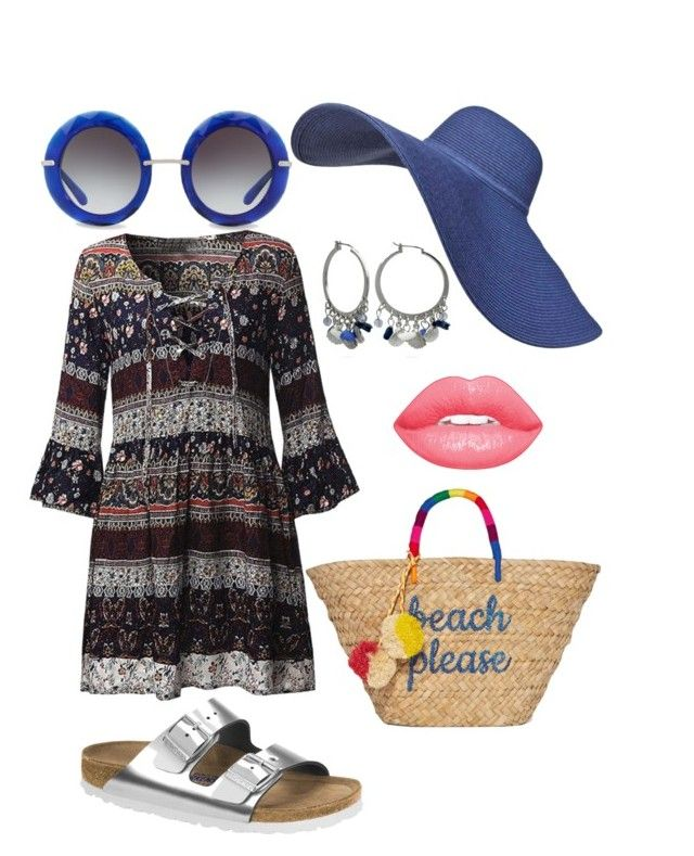 """""""Vacaciones 4"""" by cari-letellier on Polyvore featuring moda, Birkenstock, Dolce&Gabbana, New Directions y Kayu"""