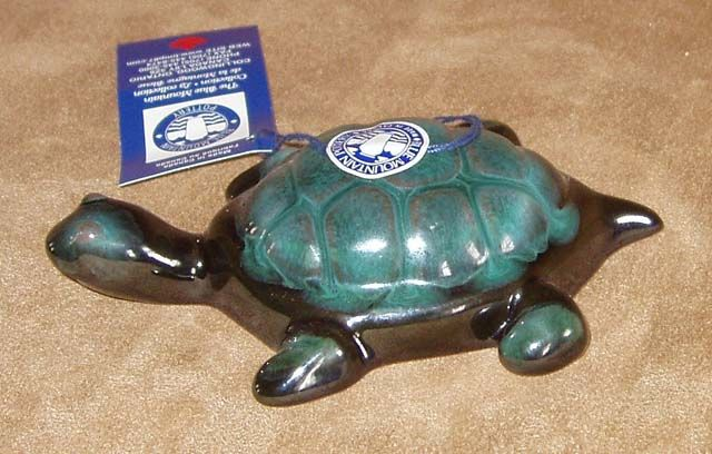 Blue Mountain Pottery Turtle from the Sharon Bennett Collection